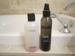 what does she clean her brushes with mac brush cleanser and quo purifying brush shoo review
