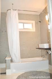 l rod shower curtain