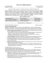 Resume Samples Office Administrator Skills Medical Sample Objective