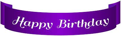 Purple Happy Birthday Banner Happy Birthday Purple Banner Png Clip Art Gallery Yopriceville