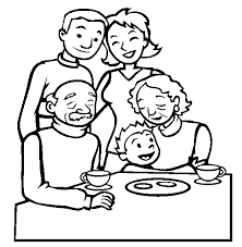 Familie Kleurplaat Opa Oma