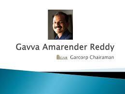 Gavva Amarender Reddy | Garcorp Chairman