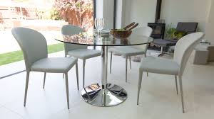 cool idea round glass dining table and chairs 29