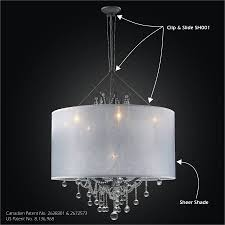 drum shade chandelier clip slide adapter kit sheer magic sh001 602bd8lmi 7c sh005 30 16w