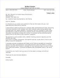 Cover Letter For A Customer Service Job Customer Service Cover Letter Sample