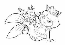 little mermaid coloring pages luxury dora and friends coloring pages