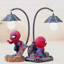 Spiderman Christmas Lights Hot Spiderman Led Night Light Resin Spider Man Lamp For Children Kids Rooms Home Left Decor Birthday Christmas Gifts
