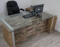 rustic office desk. Modern Rustic Office Desk. Computer Reclaimed Rail Wood Furniture. And Glass Desk I