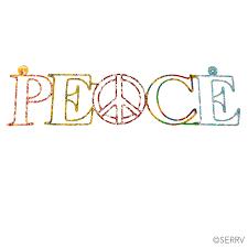 peace wall word