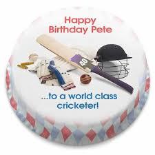 Personalised Cricket Themed Birthday Cakes Bakerdays