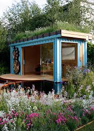 shipping container home office. perfect home green roofed home office inside shipping container