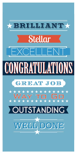 Words For Congratulations Words Of Praise Congratulations Card