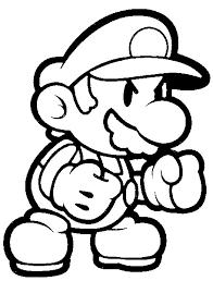 Kleurplaat Super Mario 1