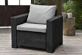allibert by keter california armchair duo rattan outdoor garden furniture