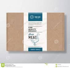 Carton Label Design Fine Quality Organic Goose Craft Cardboard Box Abstract