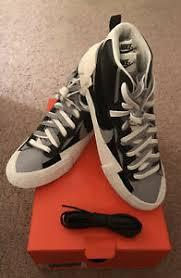 Details About Nike X Sacai Blazer Mid Shoes Black Grey Nib Deadstock Us Sz Size 11 Authentic