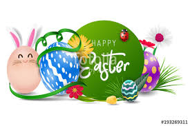 Easter Greeting Card Template Impressive Happy Easter Image Vector Modern Happy Easter Background With