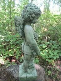 18 cement boy angel cherub concrete