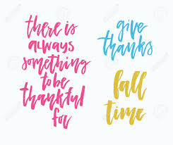 Handdrawn Lettering On Thanksgiving Theme Unique Calligraphic