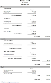 Basic Balance Sheet Template Excel Sample Balance Sheet