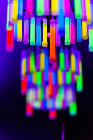 glow stick chandelier from a glow birthday party on kara s party ideas karaspartyideas