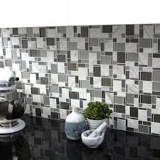 and tile another i like essentials modern silver stone glass mosaic allen roth backsplash