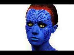 x men mystique makeup tutorial