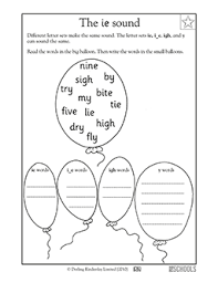 From novice to master learners. Vowel Sound Ie 1st Grade Kindergarten Reading Writing Worksheet Greatschools