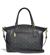 Coach Charcoal Midnight Navy Coated Canvas Prairie Satchel ...