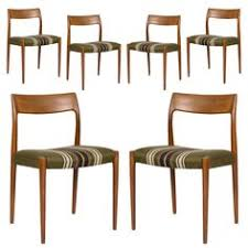 set of six niels møller model 77 dining chairs dining room