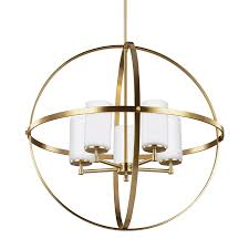 sea gull lighting alturas 27 25 in 5 light satin bronze etched glass globe chandelier