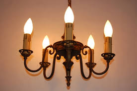 updating cart elegant brass 5 arm electric candle chandelier