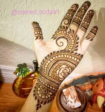 Palm Mehndi Designs Easy Simple Palm Henna Design For More Visit The Stained