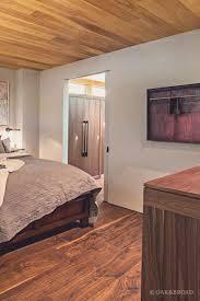 Modern Bedroom Flooring Stunning Contemporary Home With Wide Plank Black Walnut Floor