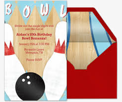 Bowling Party Invitation Send Free Online Bowling Party Or League Invitations Choose From