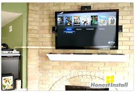 installing a tv over a fireplace installing a over a fireplace mount brick fireplace hide wires
