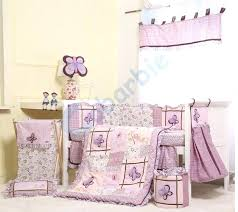 purple nursery bedding 6 girl baby set summer crib cotton and grey sets purple nursery bedding