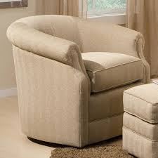 Leather Accent Chair With Ottoman Barrel Swivel Chair With Rolled Arms By Smith Brothers Wolf And