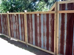 rusted corrugated metal fence. Modren Corrugated The Rustic Corrugated Tin Fence My Husband And I Built Made From Recycled  Bought A Farmer In Iowa Love The Rust Patina To Rusted Corrugated Metal Fence G