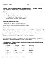 sample college admission little prince essay le petit prince essay paper topics graduateway com
