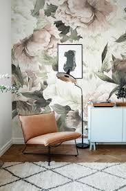 Grote Bloemen Behang Muur Muurschildering Floral Home Decor Etsy