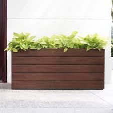 polystone milan tall trough ft outdoor planter  hayneedle