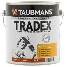 taubmans tradex white matt interior