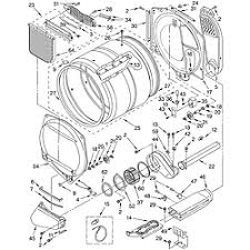 whirlpool residential dryer parts model gew9200lw1 sears bulkhead part
