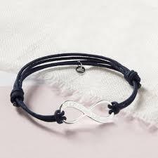 infinity bracelet. women\u0027s personalised infinity bracelet