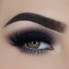 31 pretty eye makeup looks for green eyes plum smokey eyeblack