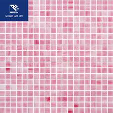 jy13 t13 pink stained glass mosaic tiles