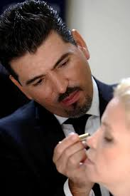christy basave has makeup applied by rodolfo arciga who works for estée lauder in mexico