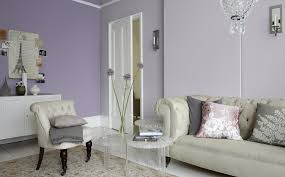 lavender wall paintA living room in lilac and lavender  Dulux India
