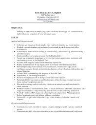 sample vet tech resume final vet tech resume free sample veterinary  assistant resume